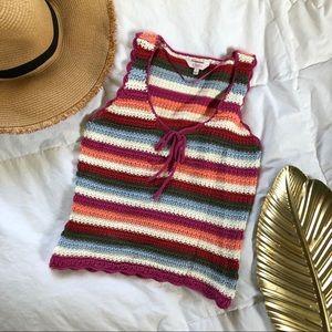 {BOHO} adorable crochet tank